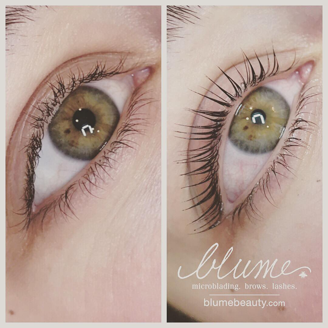 Shown Above is a Blume Luxe Keratin Lash Lift Infusion