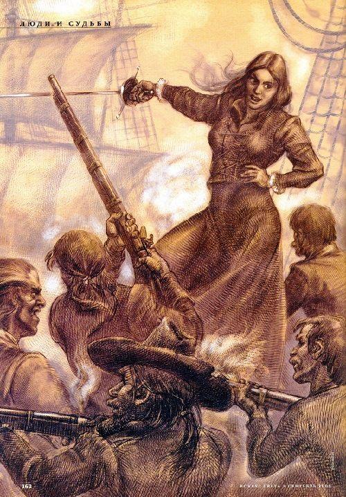 Artist's depiction of Gráinne Ní Mháille by Anton Batov.
