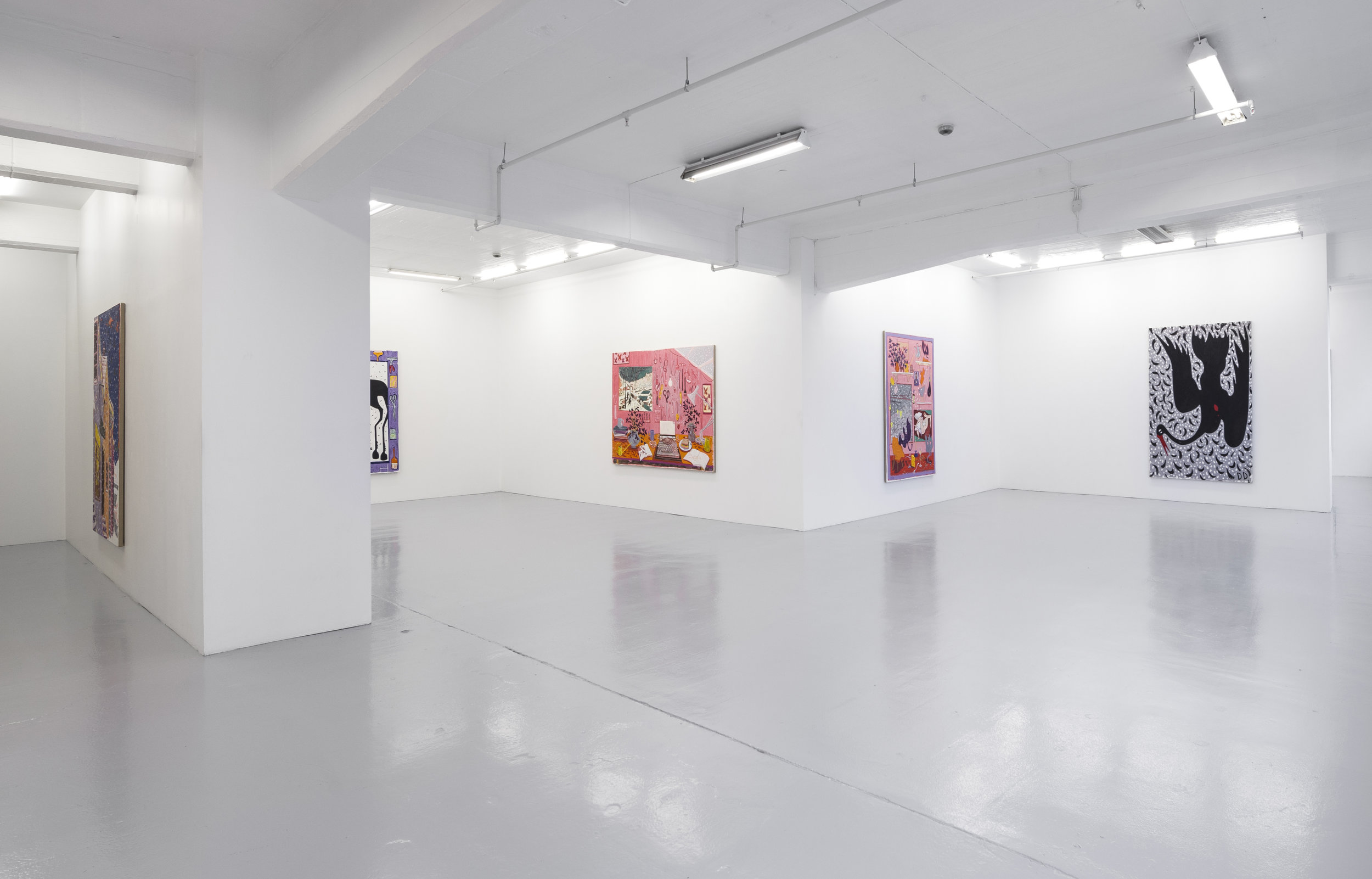 Holed Up  Installation View  Galleri Opdahl  2018