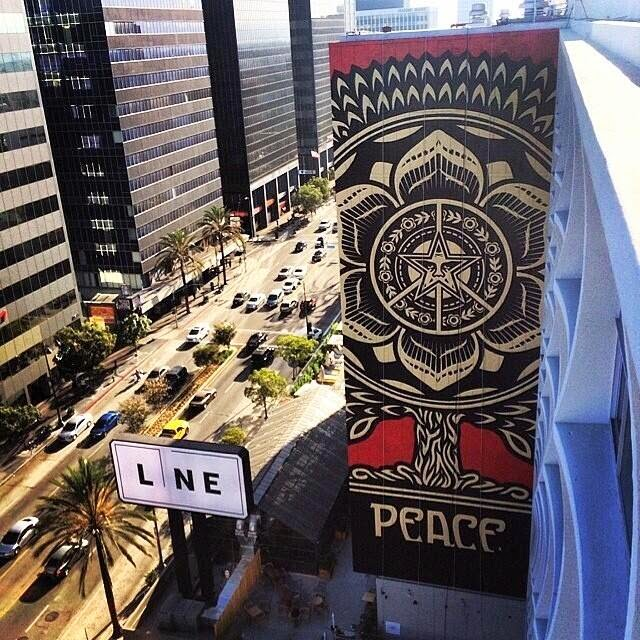Michael Fairey's mural at The Line Hotel