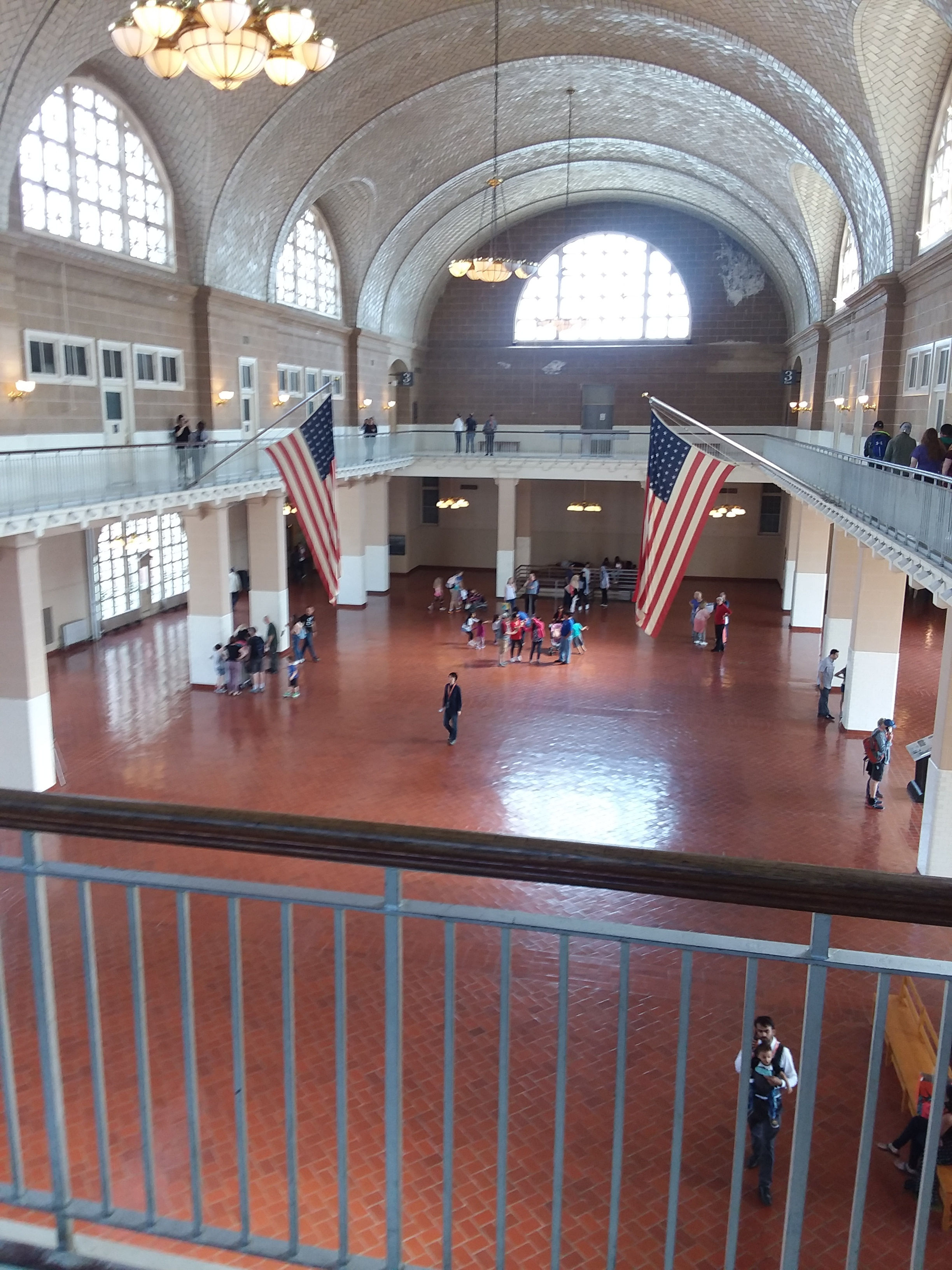 The Registry Room, on Ellis Island, where immigrants would line up for their hoped-for approval to enter America