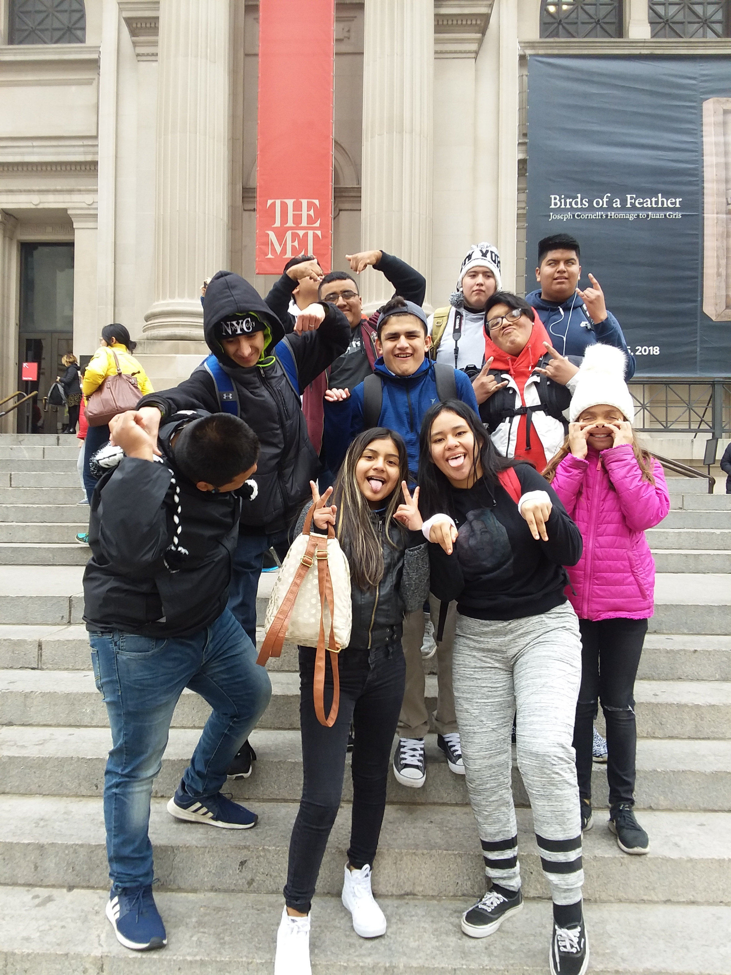 Students (half group) - at the The Met - CRAZY version