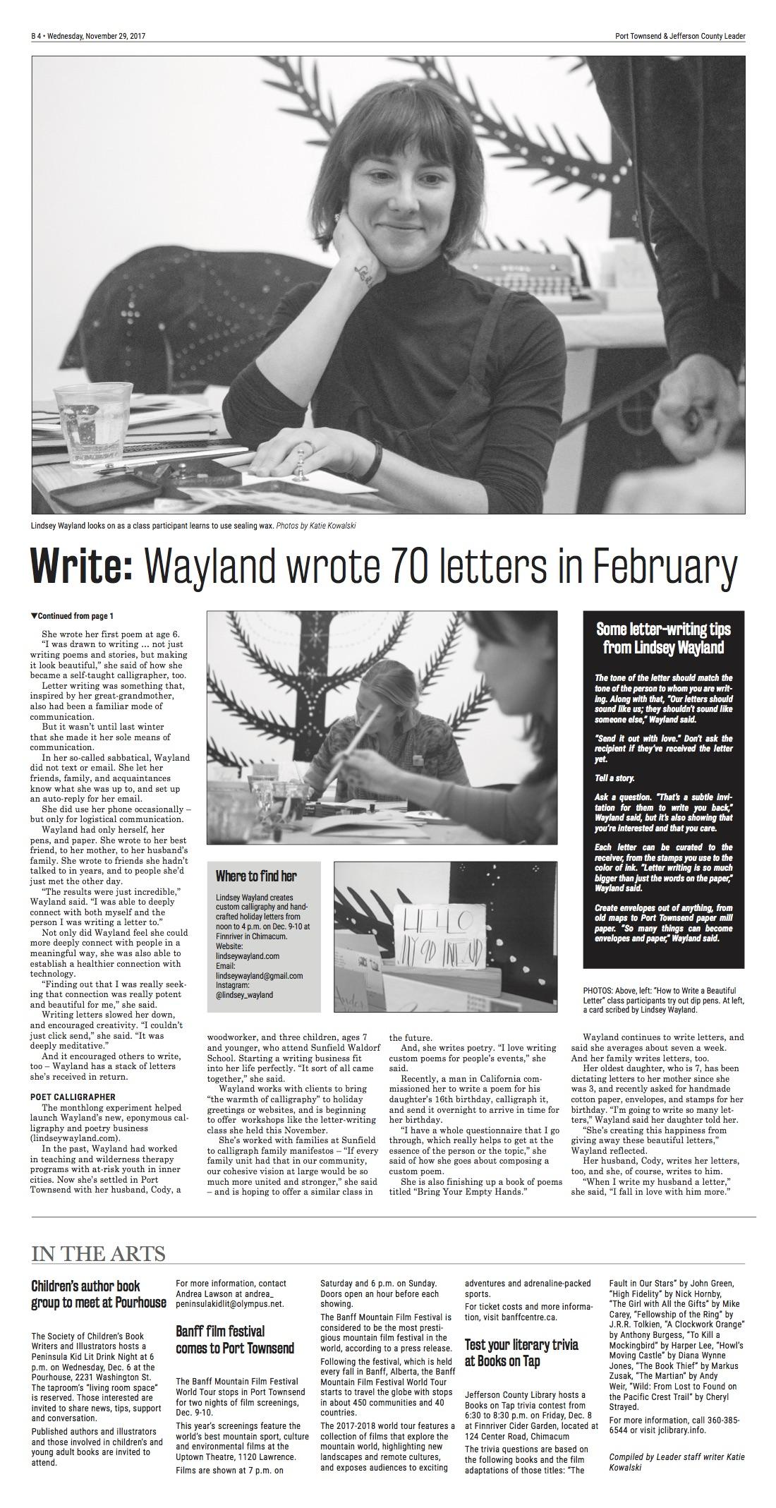 lindsey wayland press 2 11/29/17