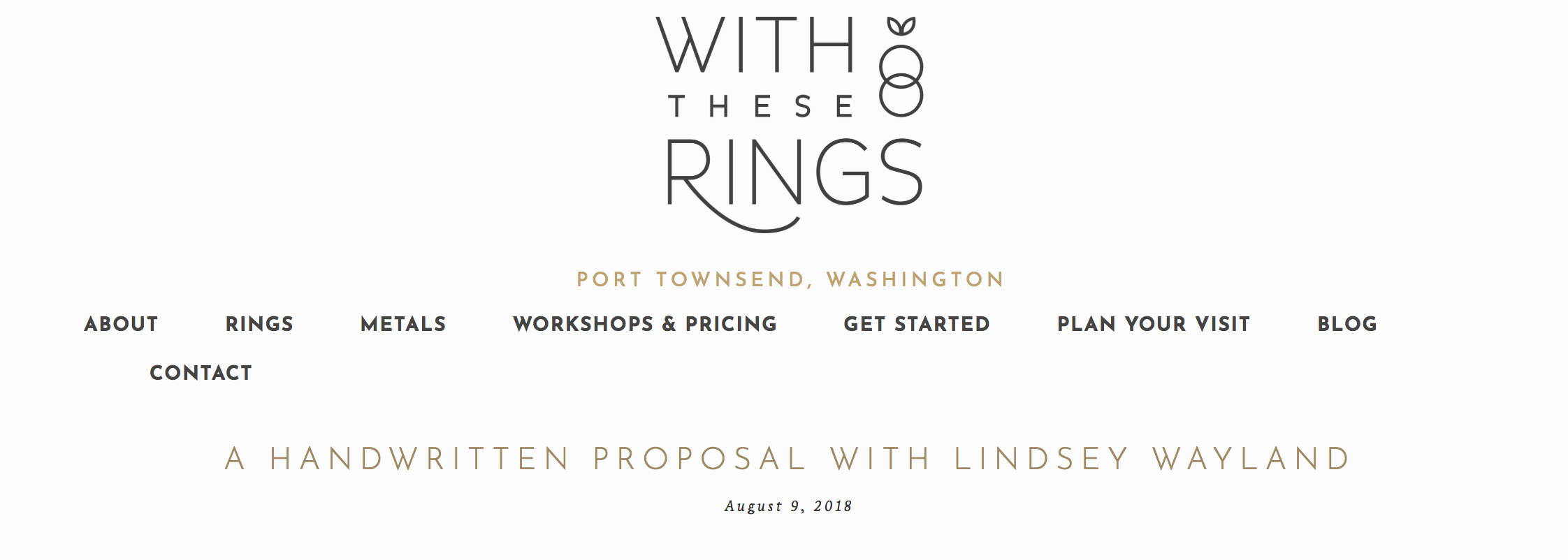 with these rings handmade interview with lindsey wayland