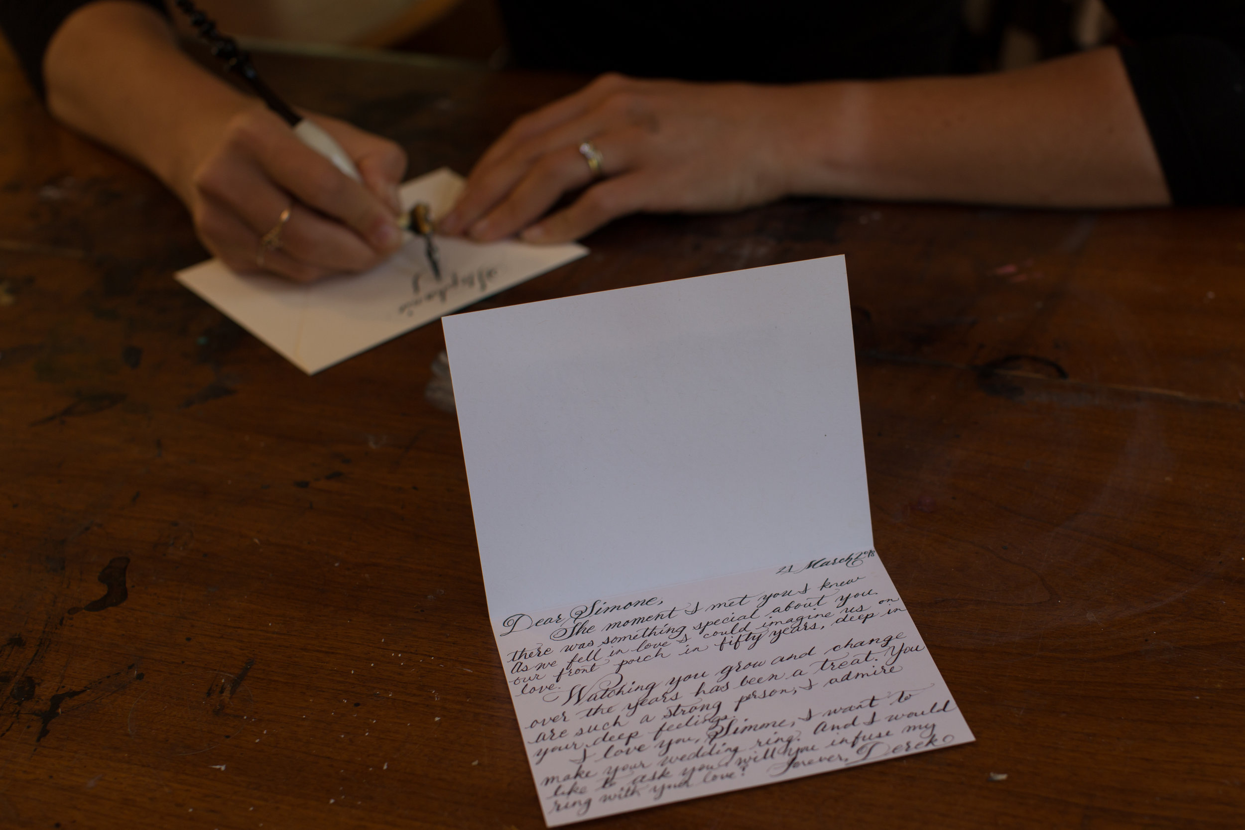 Write a Beautiful Love Letter with Poet Calligrapher Lindsey Wayland
