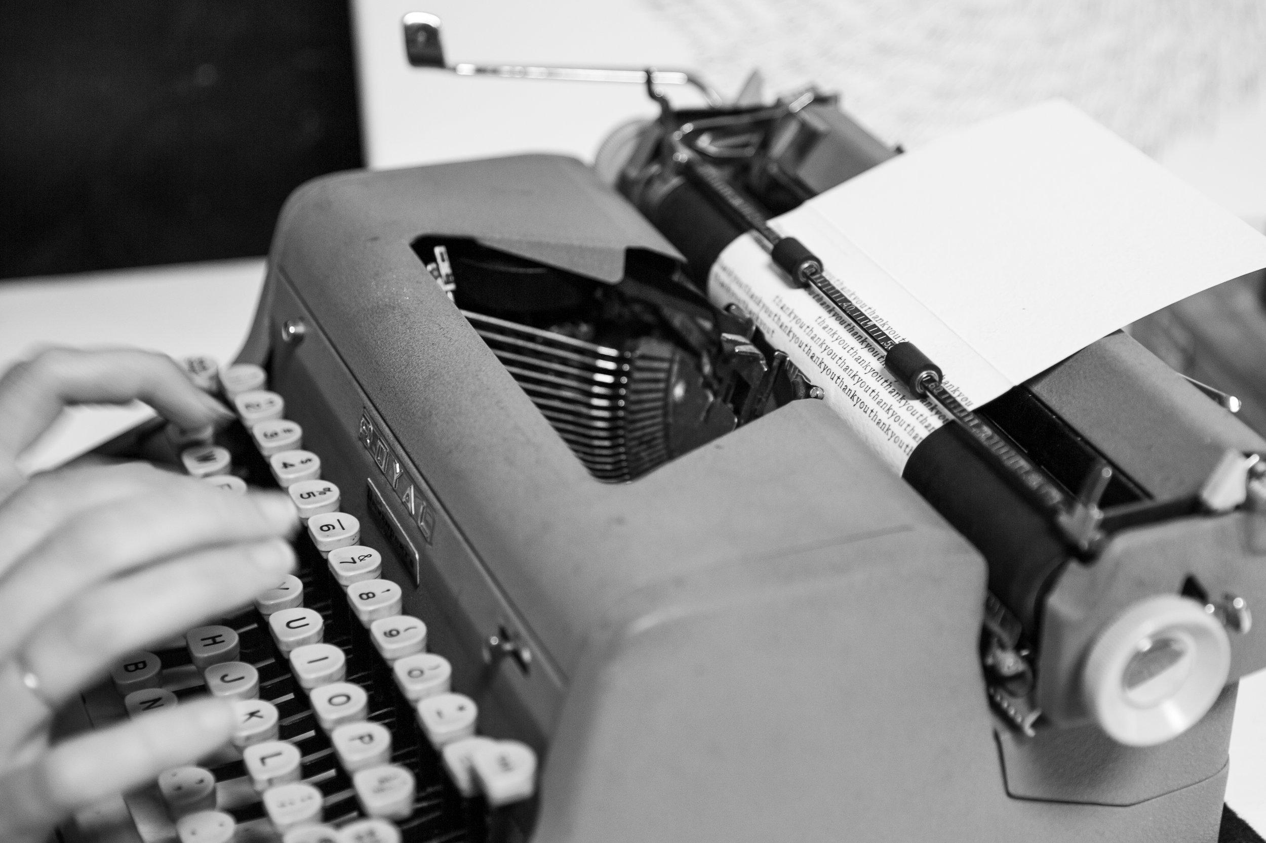 Lindsey Wayland Calligraphy Typewriter