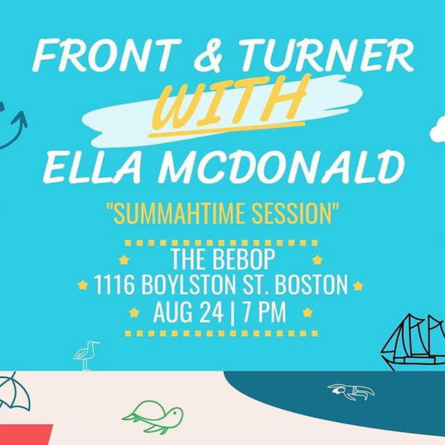 So excited to be back in Boston and play the Bebop with @frontandturner this Friday! This is a free show so make sure to drop by if you're in the area!