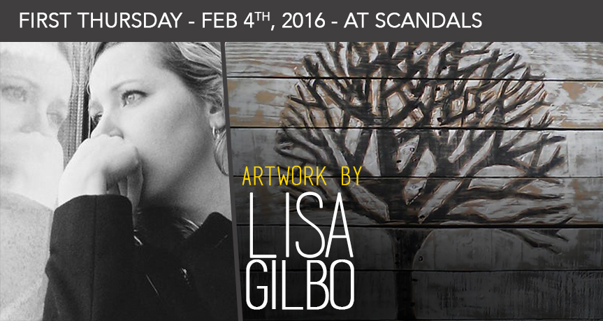 Come in this Thursday for the art opening of Lisa Gilbo, and say hi as she will be present for a meet and greet!