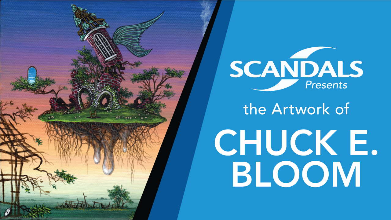 Each month Scandals welcomes to the walls the artwork of local artists. For the month of December, we welcome back the incredibly detailed work of Chuck E. Bloom! Come in for our first Thursday opening, enjoy Happy Hour from 4pm-8pm, and meet and greet with the artist himself! Chuck has been gracious enough to reduce his prices for the month of December so that you can give the gift of art this Holiday Season! See you there!   Join the event on Facebook here!
