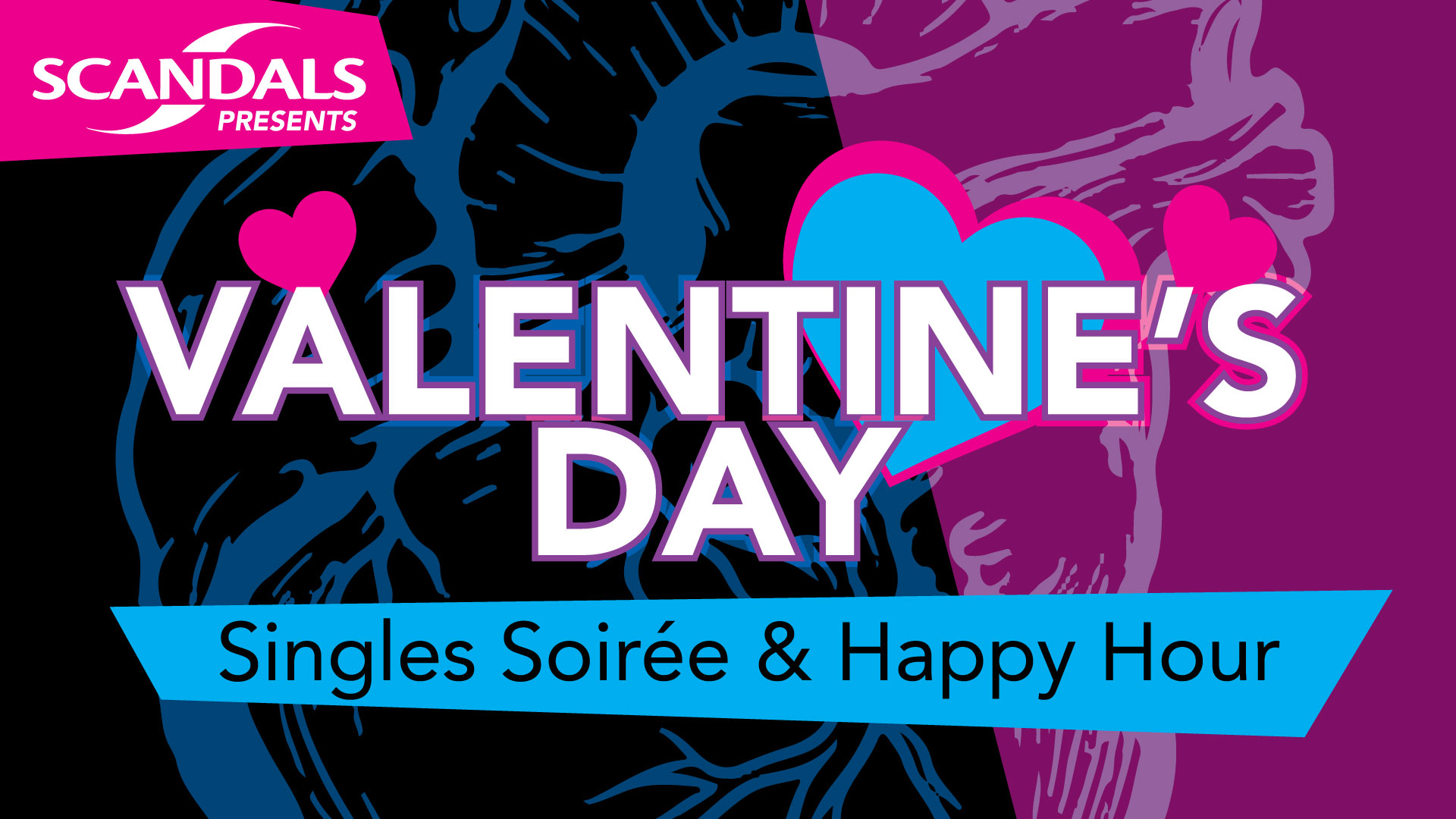 Get Off Your Phone!! Meet LIVE people!! @ Scandals for a Valentines Day, Singles Soiree & Happy Hour! Even if you don't find your Amore, you'll still have great time!!   Make sure to join the event on Facebook here!