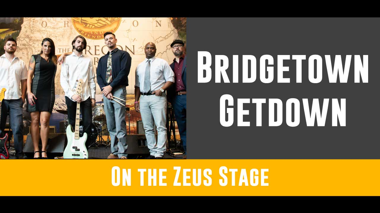 Bridgetown Getdown will give you a reason to dance with their high caliber style of taking some of your favorite top 40s from across the decades with their own fantastic spin! They will be rocking the Zeus stage from 4 to 6pm!   Click here for more info on BGD!