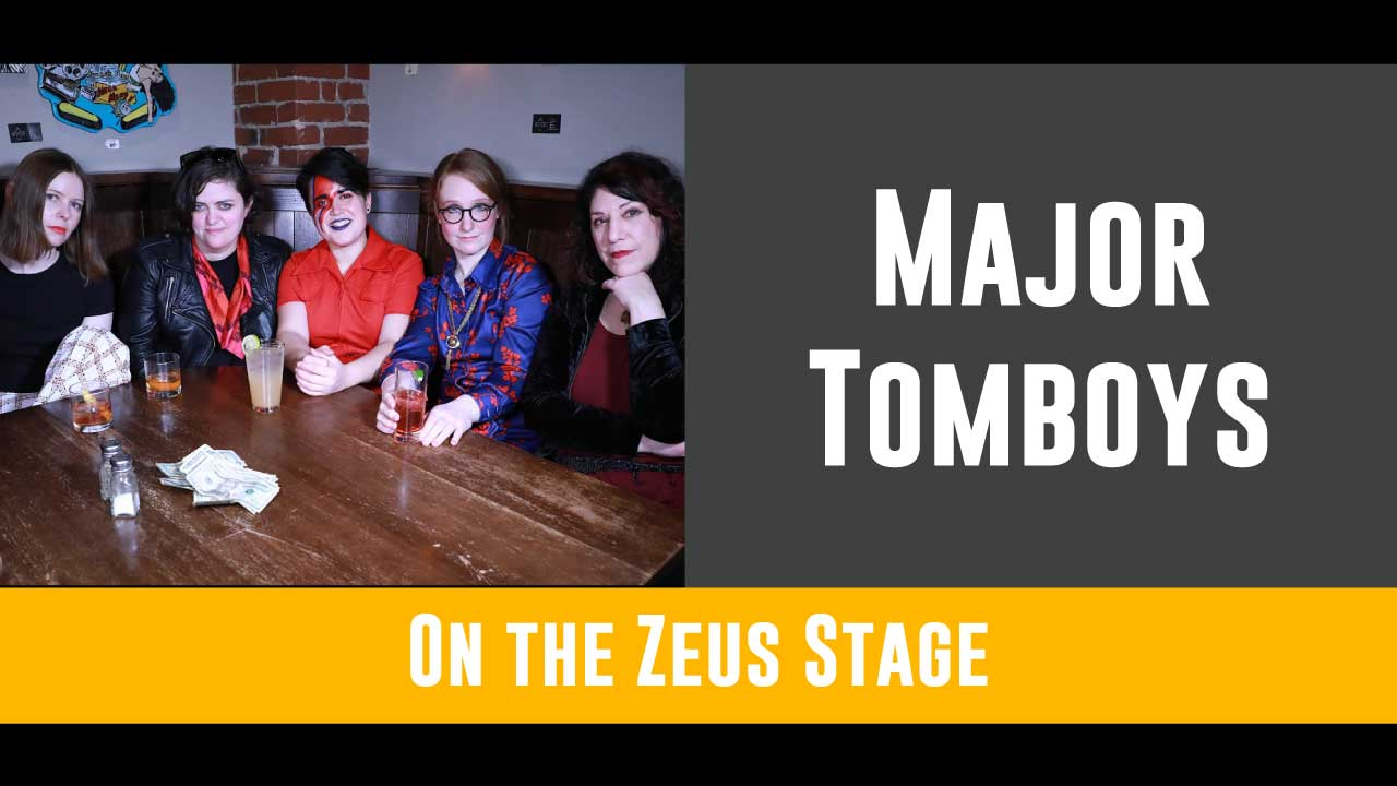 Get ready to Put on Your Red Shoes and dance to this all female-identified David Bowie cover band! You won't want to miss their performance on the Zeus stage from 8 to 9pm!   For more on Major Tomboys, click here!