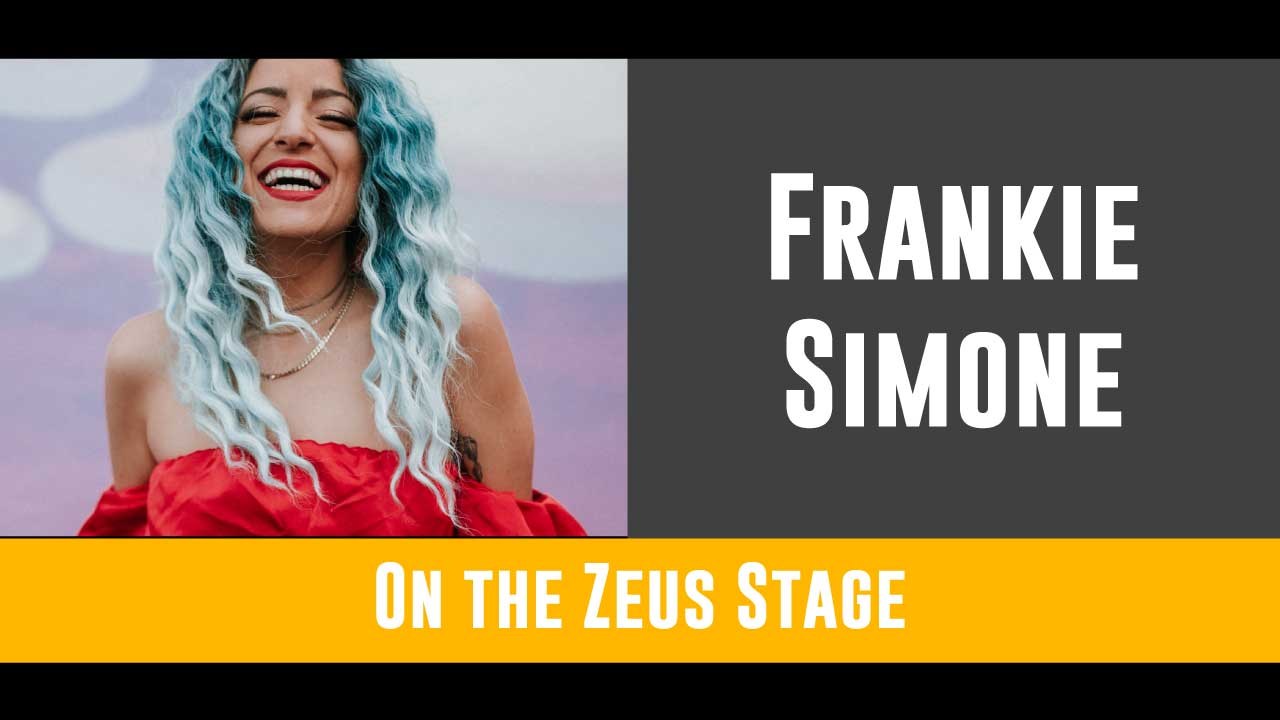 "Portland's ""High Priestess of Pop"" will be at the Zeus stage from 9 to 10pm making you find your inner self and bring it out for everyone to see!   Click here for more on Frankie Simone!"