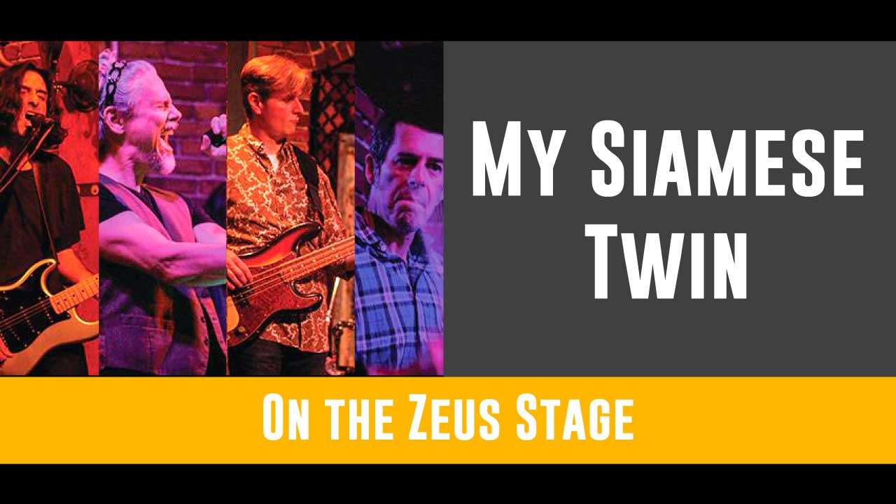 Opening up the day with some of your favorite 80s tunes, My Siamese Twin will get your Sunday started right! Make sure to find them on the Zeus stage from 1 - 3pm!   Follow MST on facebook here!