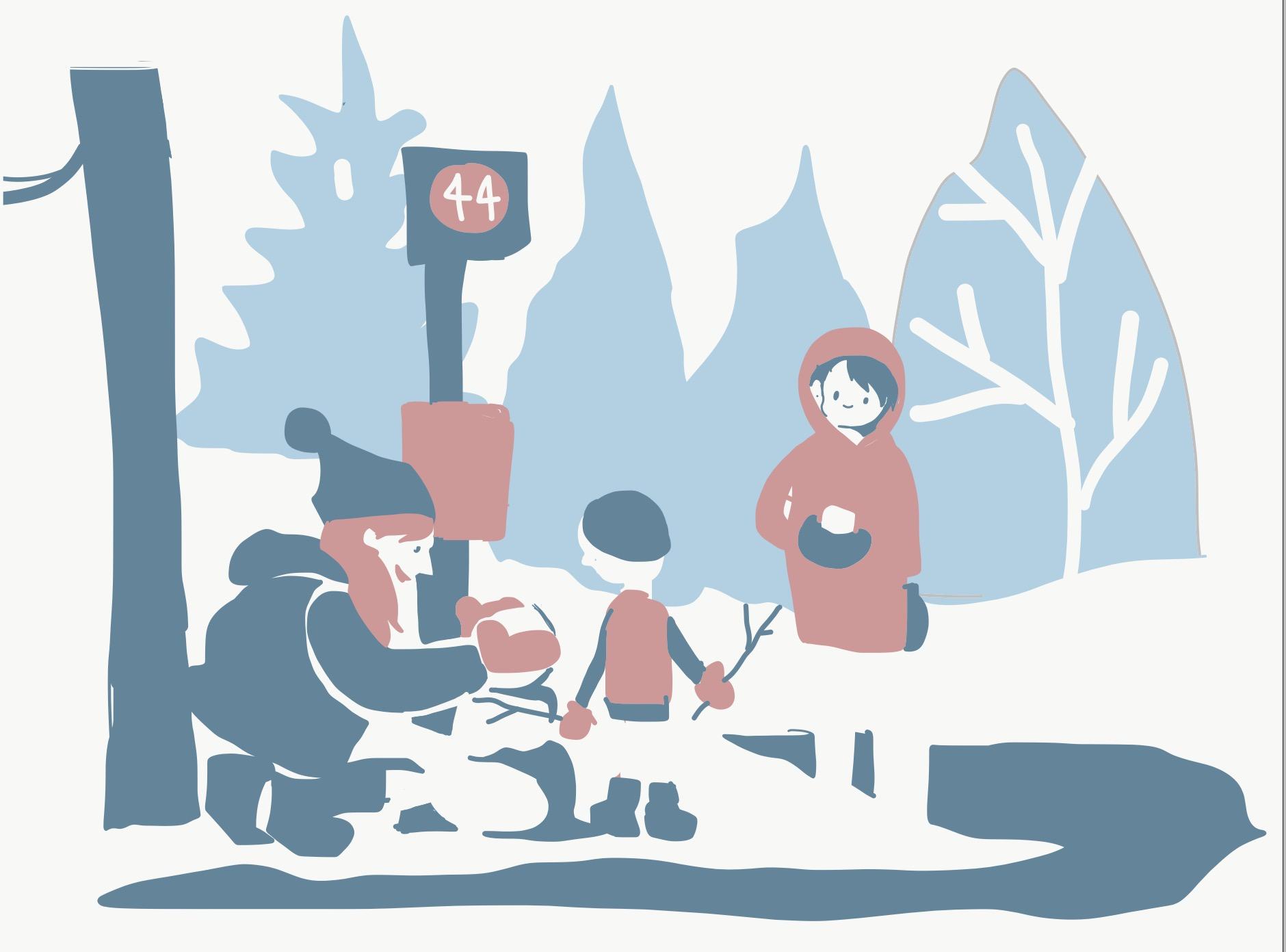 Bus Stop Snowmen