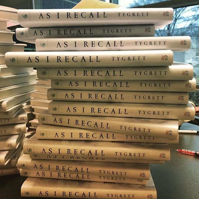 I'm always amazed by this opportunity. Bringing a book into the world is no small wonder, and my prayer is that seeing these little ones never loses its magic. Spent the day signing books for influencers and launch team @ivpress @ivp_design #asirecall Coming April 9. Pre-order now on Amazon/IVPress/B&N