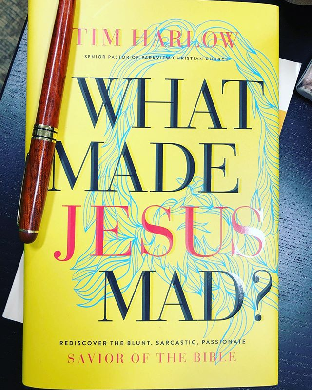 Having worked with @tlharlow both at @parkviewchristian and on the early stages of this book, I can tell you that this is his heart in print. Honest, humorous, and challenging, pre-order this book today on Amazon before the June 11 release. A wise and fresh look at Jesus' passionate love for everyone #whatmadejesusmad