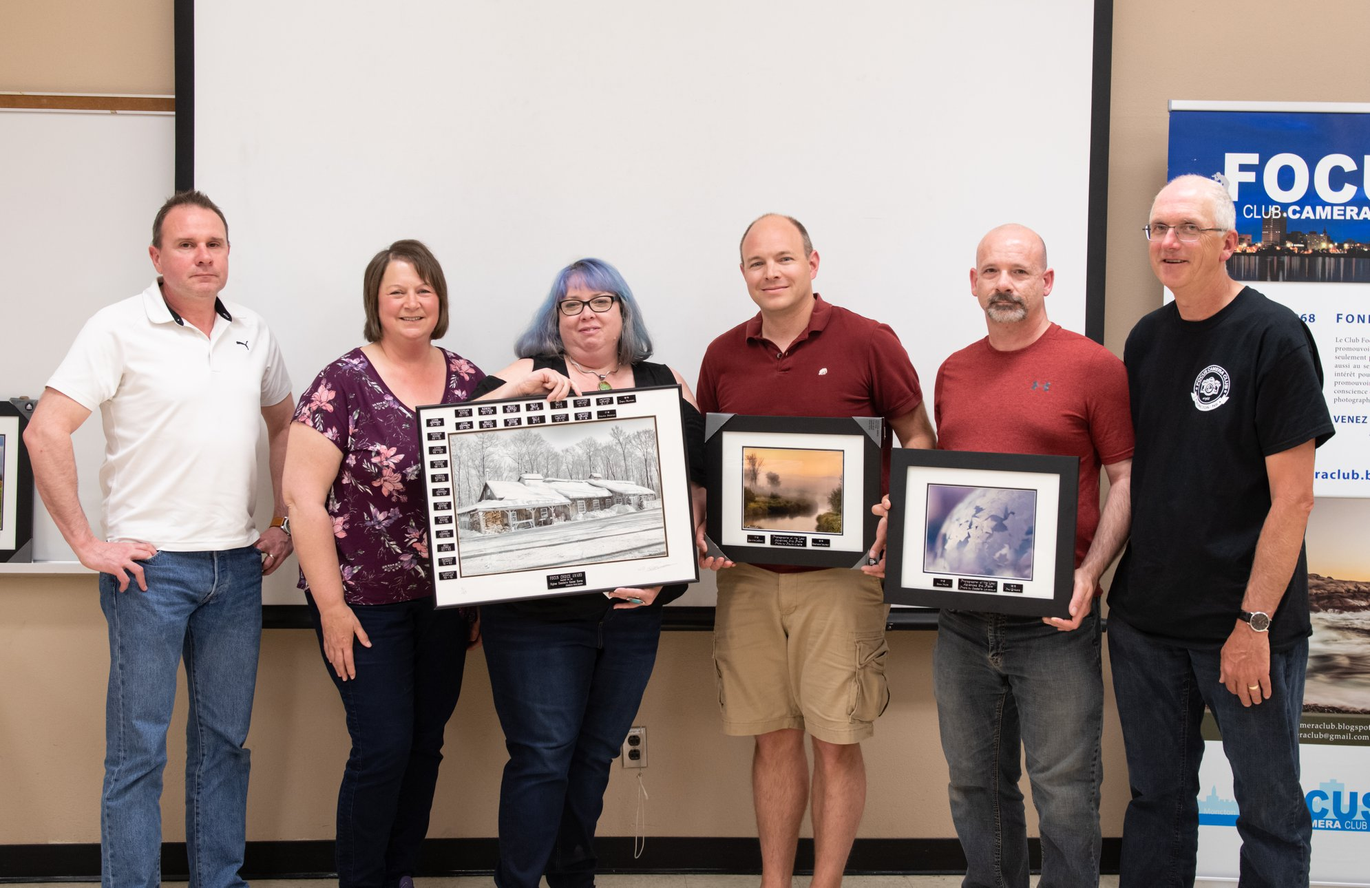 Receiving the Photographer of the Year (Advanced) Award from the Moncton Focus Camera Club.