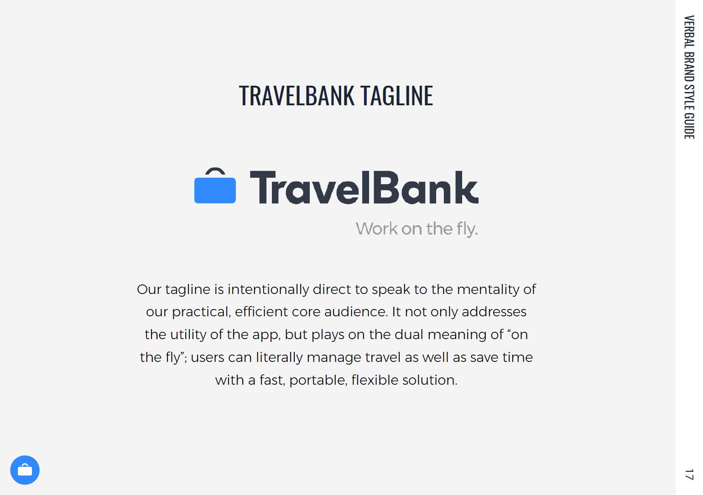 TravelBank tagline and description.