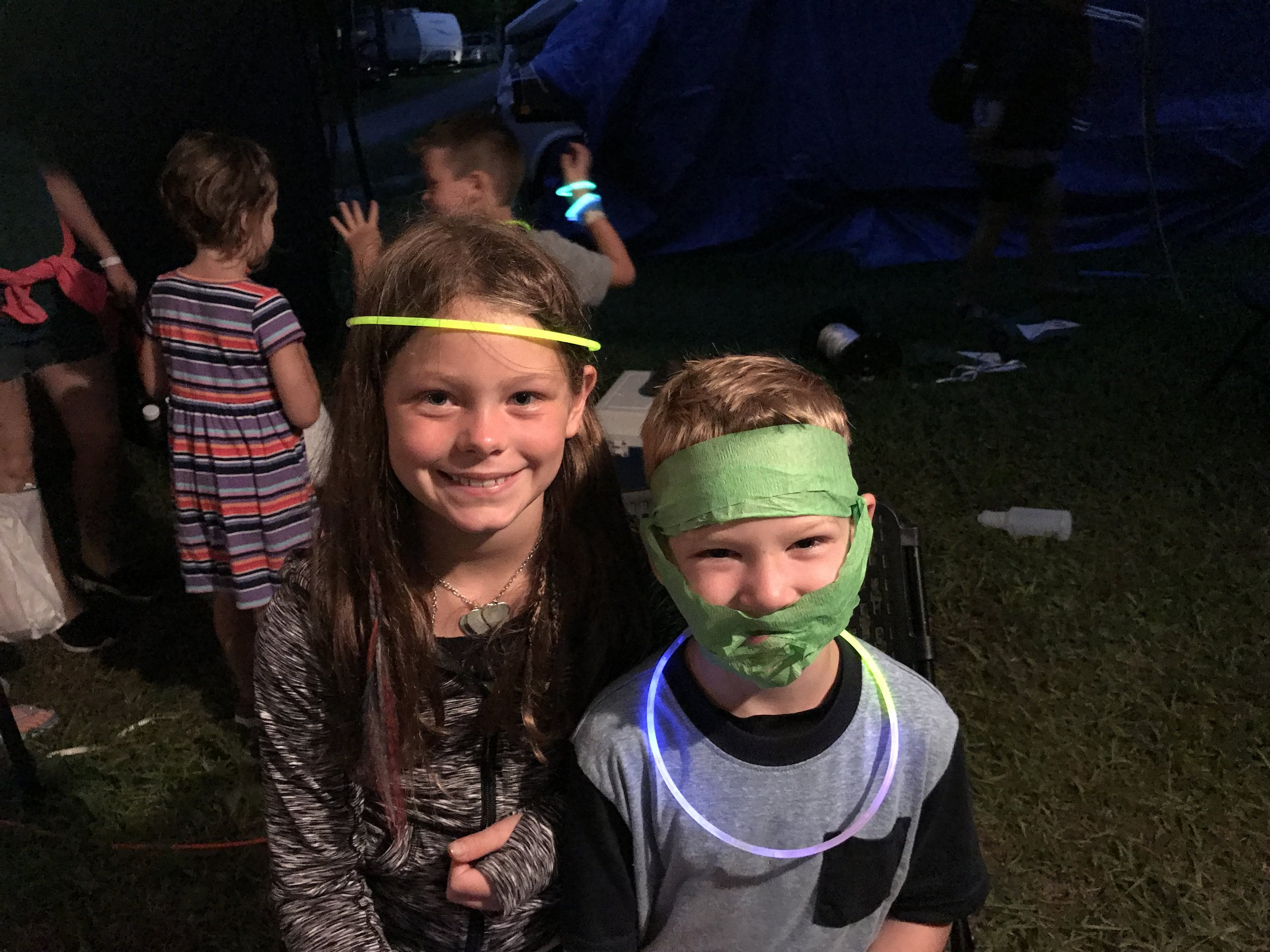 Loving the glow stick and streamer life.