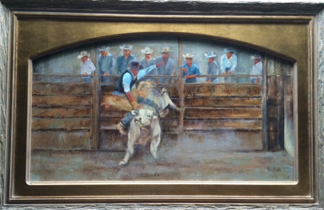 Bozeman Stampede, Oil On Linen