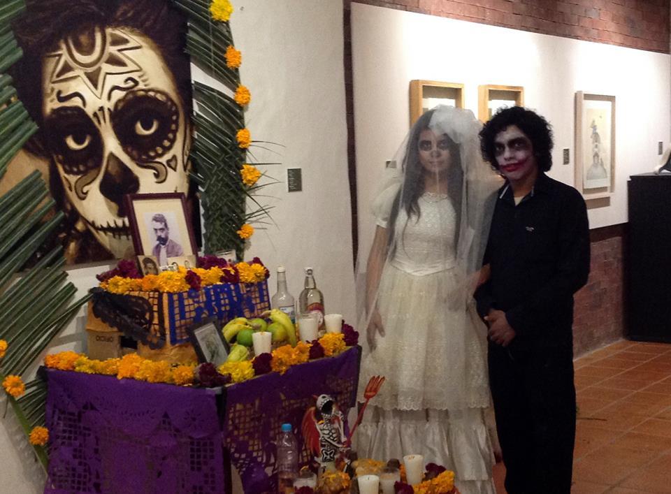Jesús en el evento de día de muertos que organizó la gente de La Antigua en nuestra Casa de Cultura VeracruzANA. La Antigua, Noviembre 2014