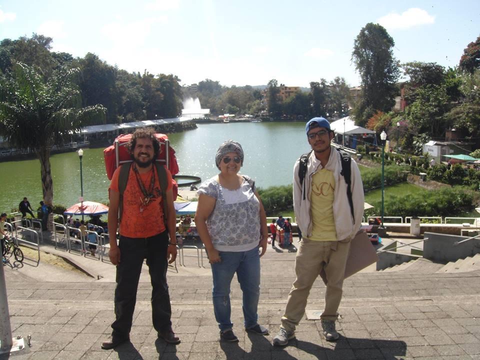 Abraham, Nallely y David de paseo por los lagos. Xalapa, Octubre 2015.