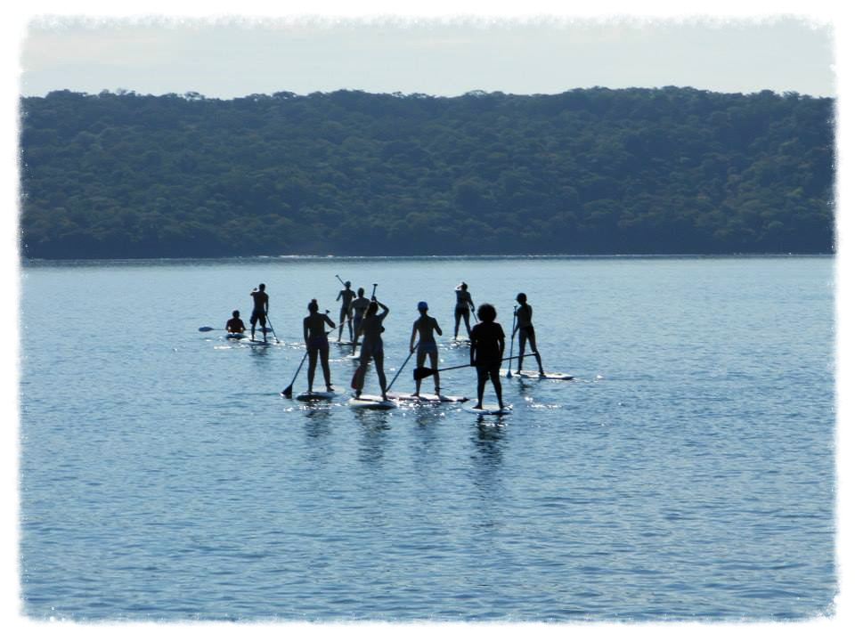 SUP Stand Up Paddle Tour surf lessons costa rica, family surf, adults only, papagayo, adventure water activities, andaz, occidental, four sesasons, exclusive resort, secrets, planet hollywood papagayo, occidental, mangroove, day trips, surfing, SUP group