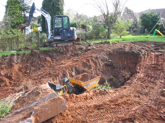 garden excavation stranmillis hanratty digging out for groundworks belfast