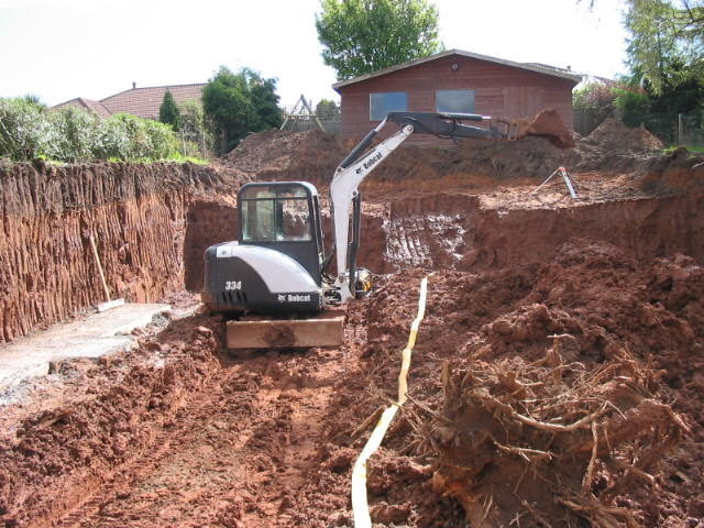 garden landscaping belfast digging out clay dunnlandscapes