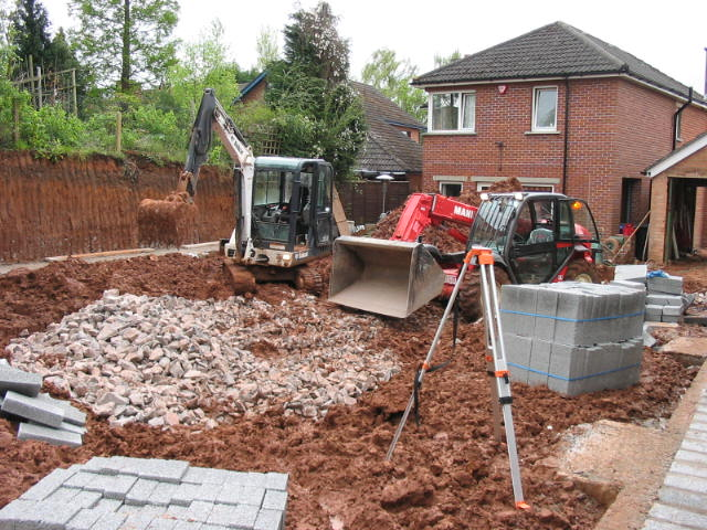 landscape construction belfast with blockwork