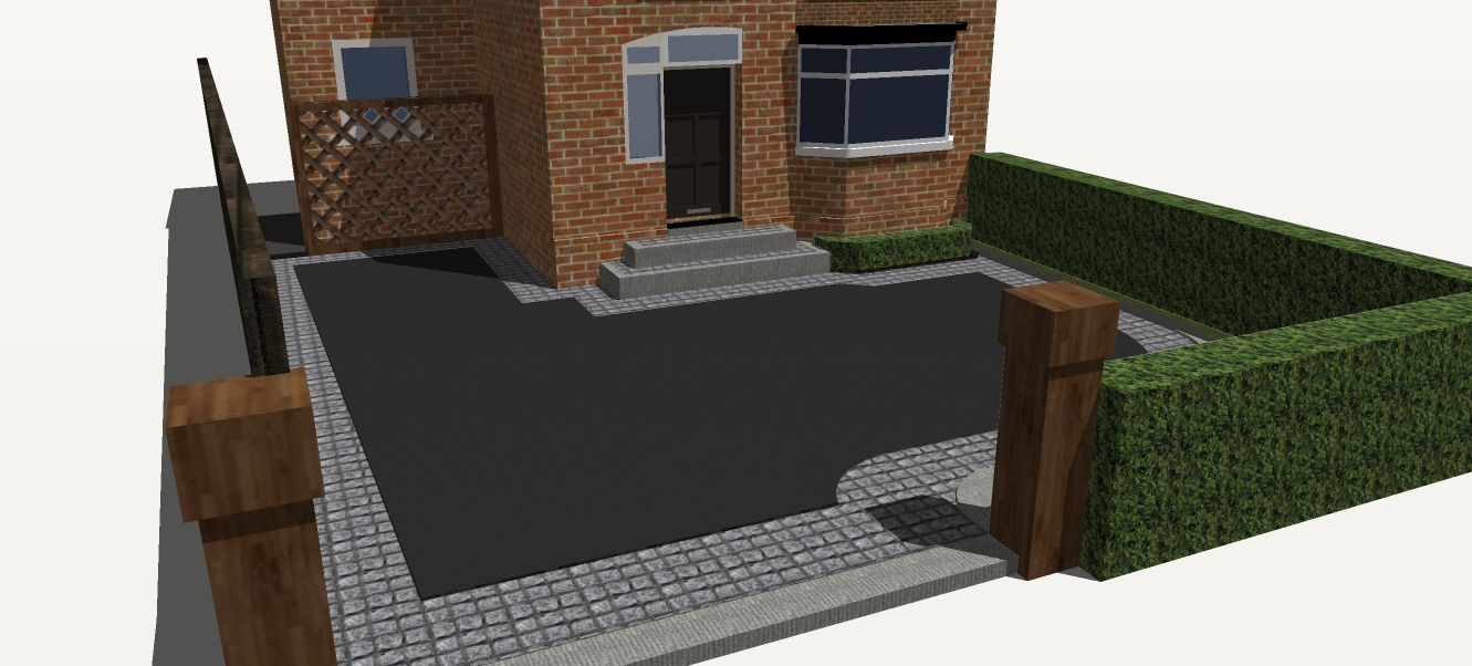 front garden and driveway design belfast northern ireland