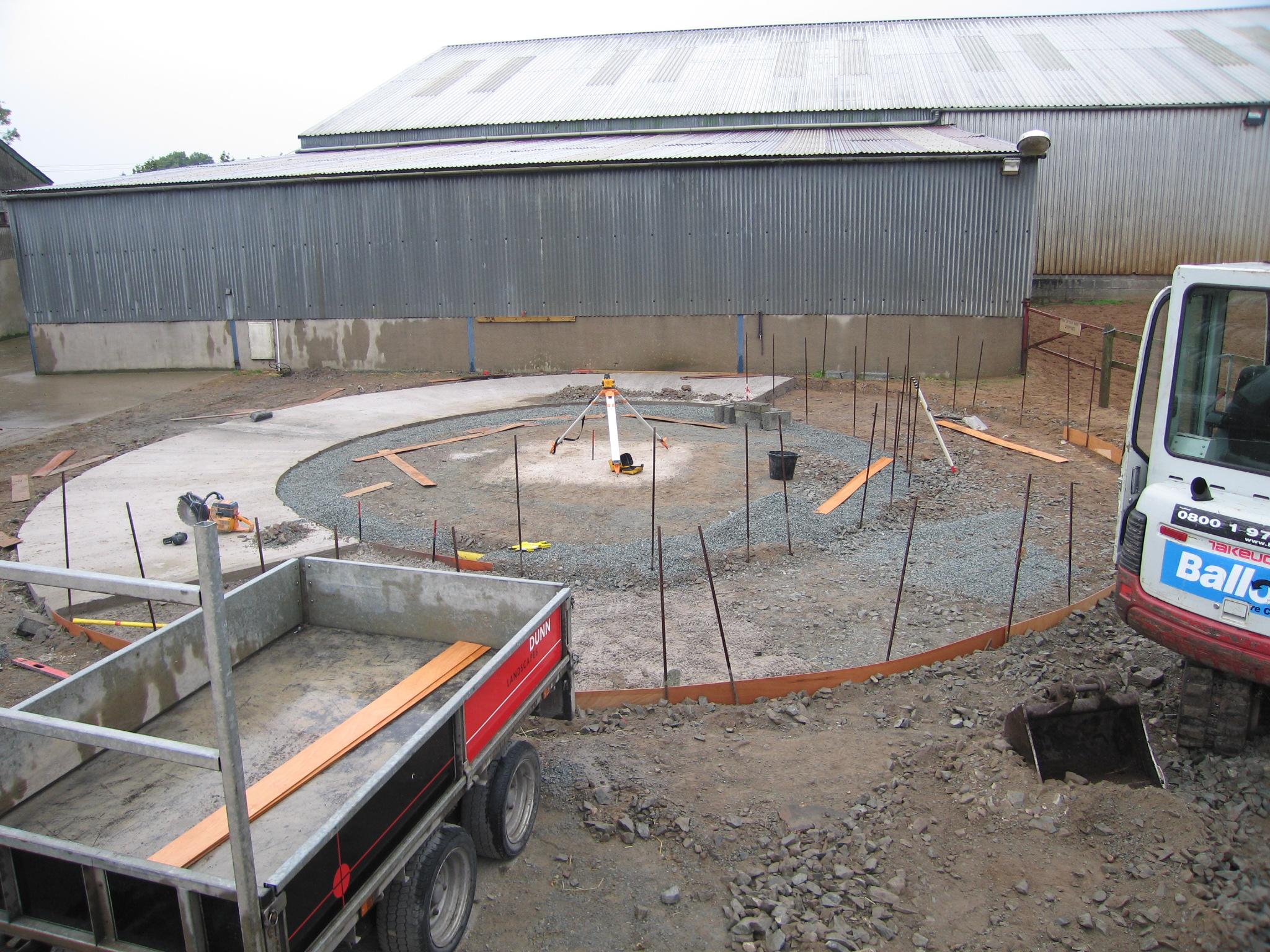 Construction of horse walker Ireland dunnlandscapes