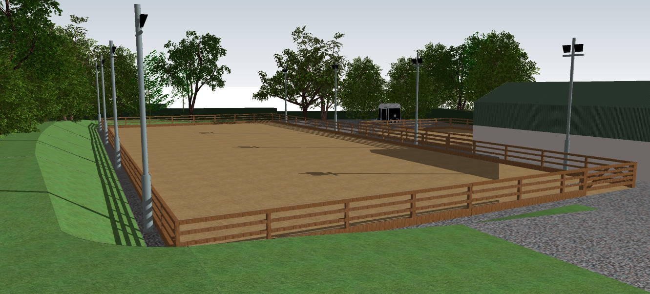 equestrian arena and menage design Ireland dunnlandscapes