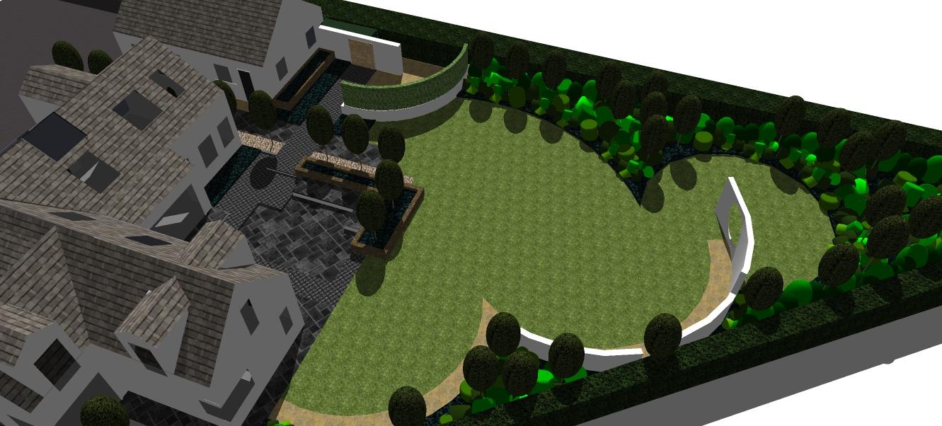 Landscape Design Aerial Shot