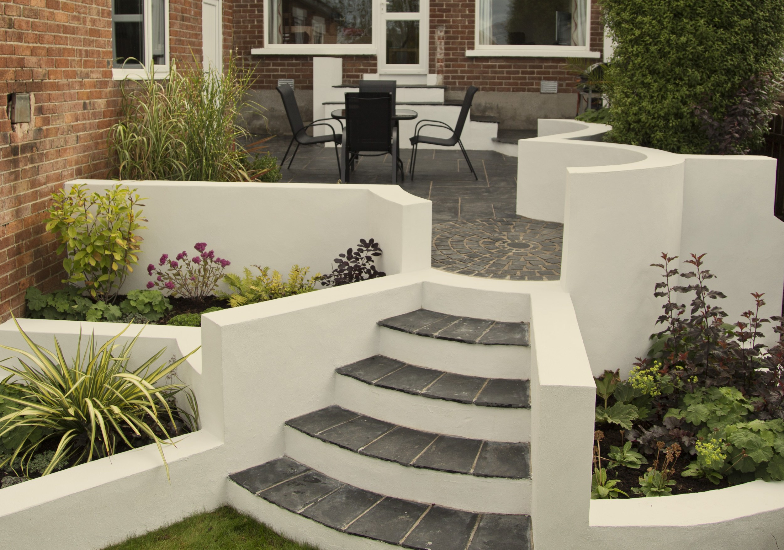 garden landscaped in Belfast
