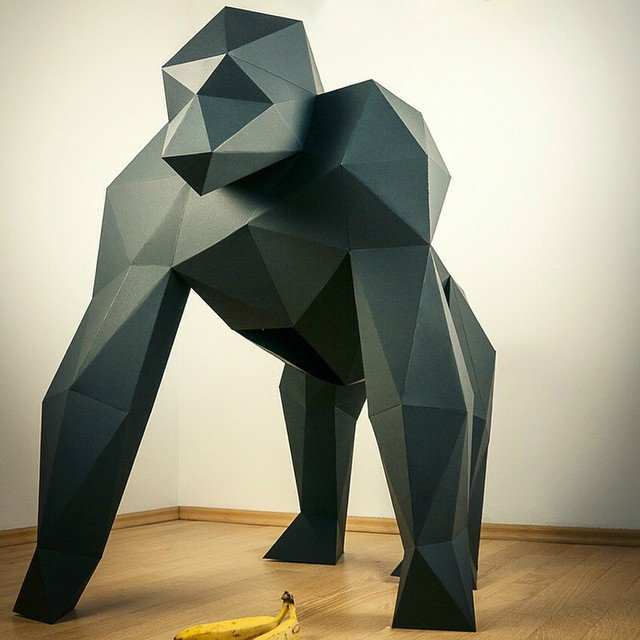 XXL Gorilla made by Papertrophy of Berlin, DE. Click the image to see their shop on Fancy.com.