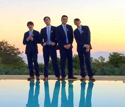 Four of the groomsmen were my sons!