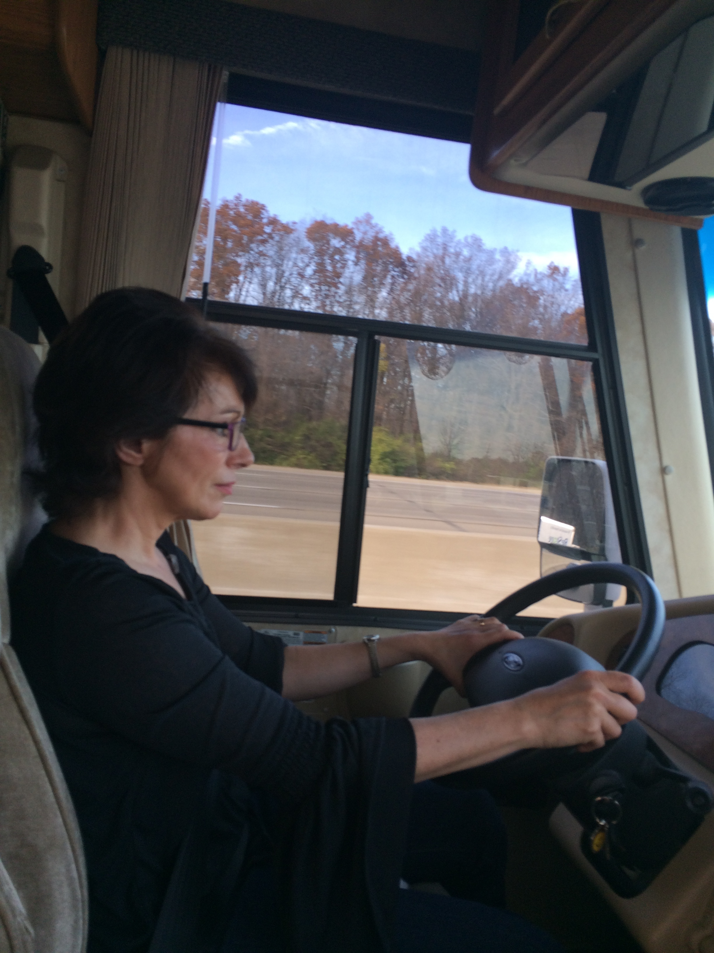 Leslie driving RV.JPG