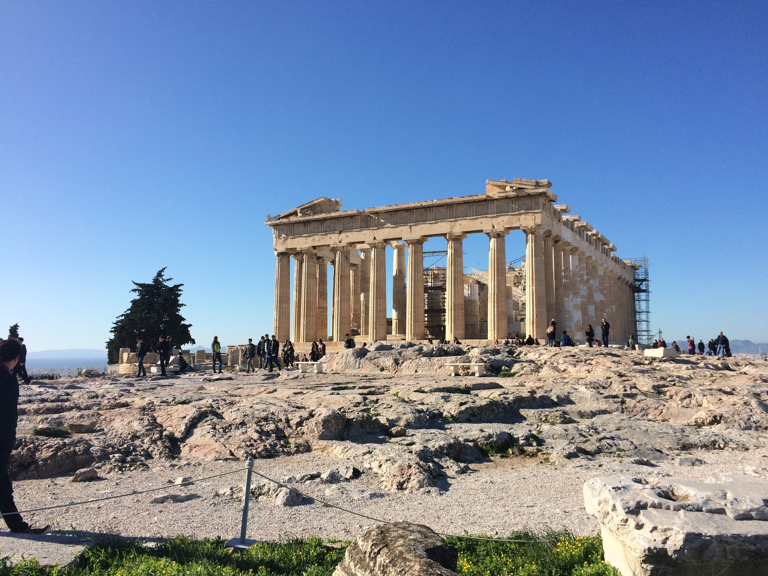(The advantage of traveling Greece in the winter: there's hardly anyone else here!)