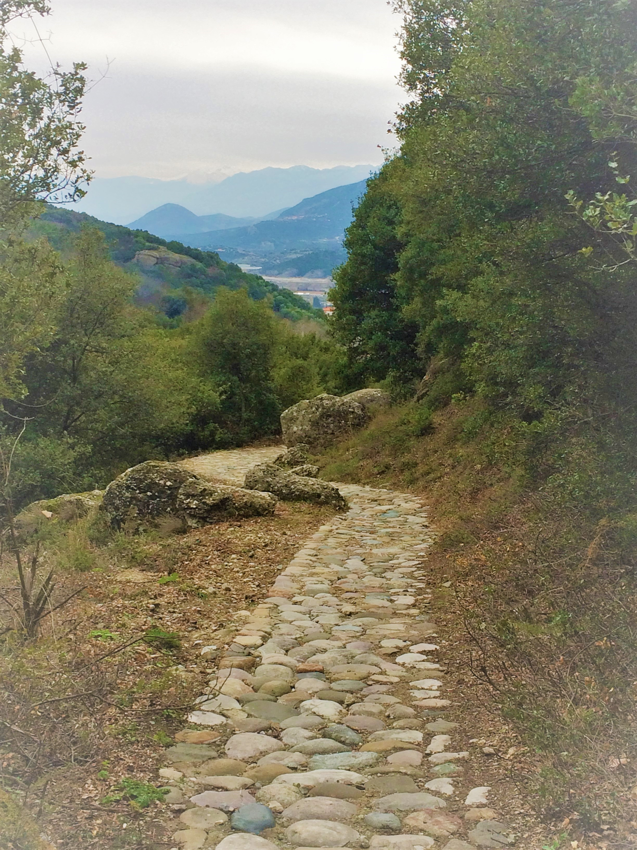 meteora--cobbled path to mountains-beautiful.JPG