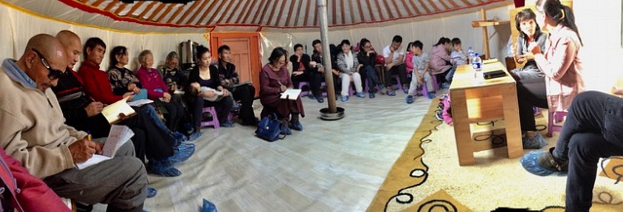 Mongolia--panorama of church people in ger.jpeg