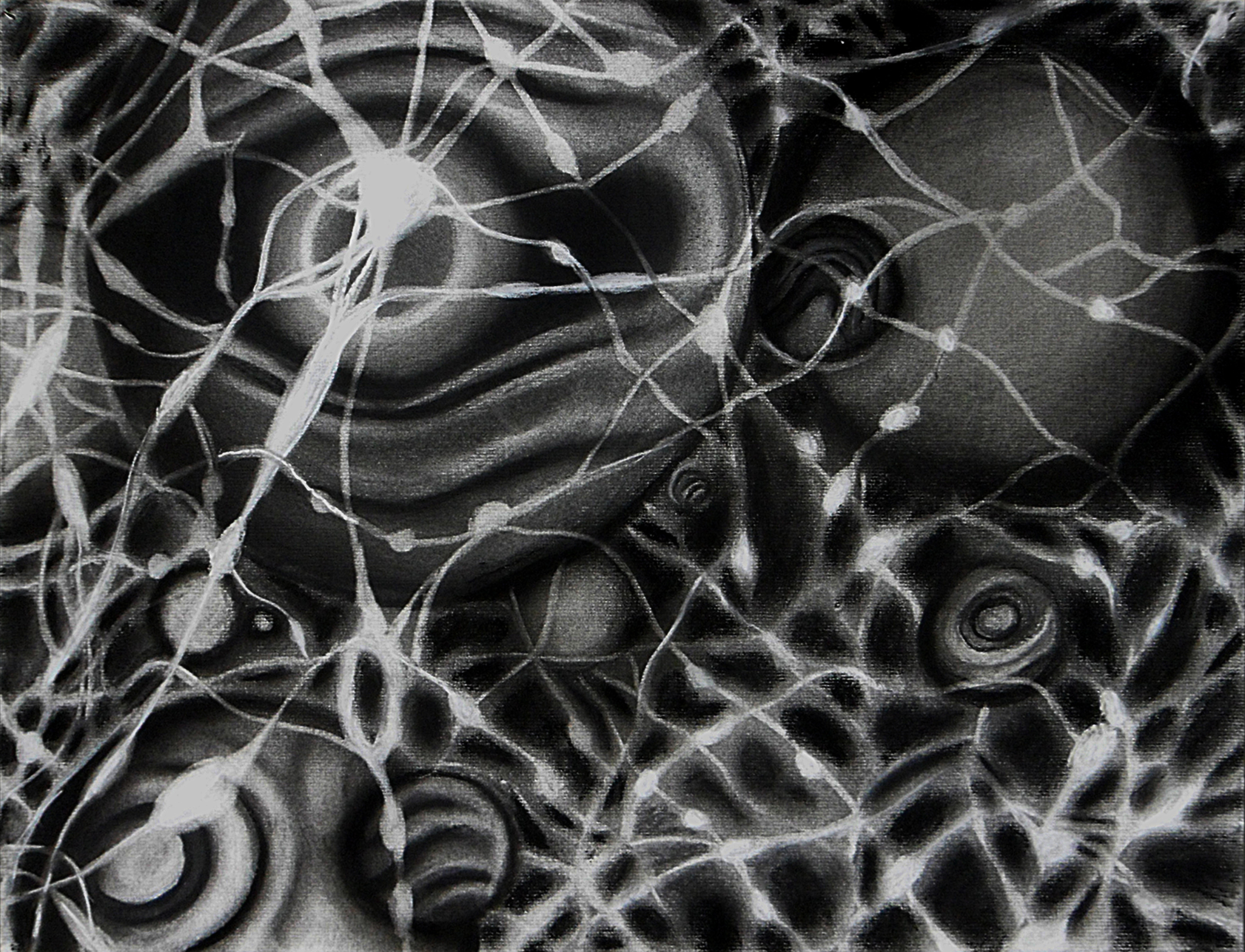 Conti  on Charcoal pencil on Charcoal paper.