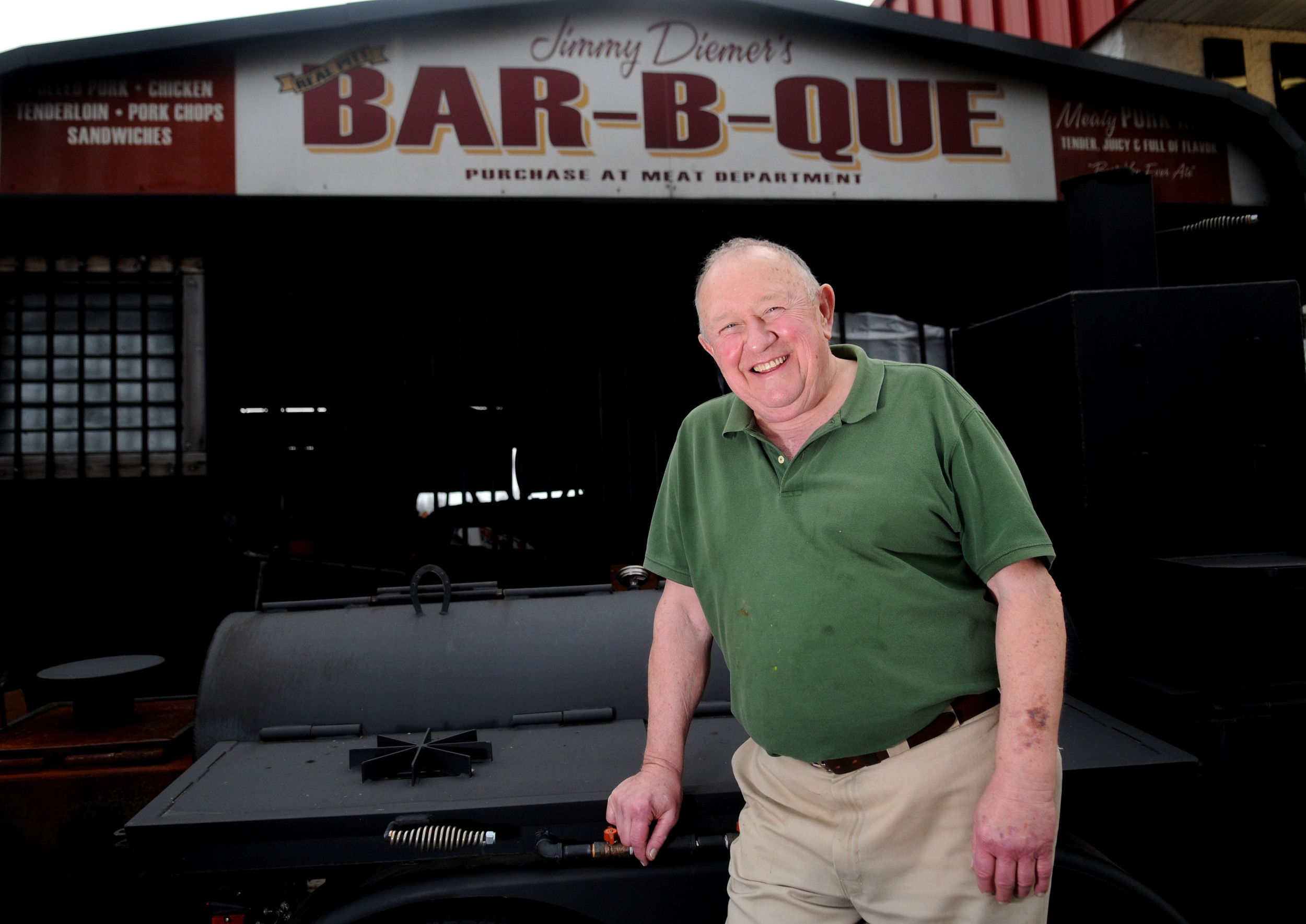 "1979 Western Kentucky graduate and Bowling Green native,Jimmy Daimer, first started selling barbeque six years ago out of a store he opened next to his property where he also owns rental properties. He started making barbecue because he couldn't find any that suited his tastes. ""If I could find good barbeque that I liked, I wouldn't be in this business."""