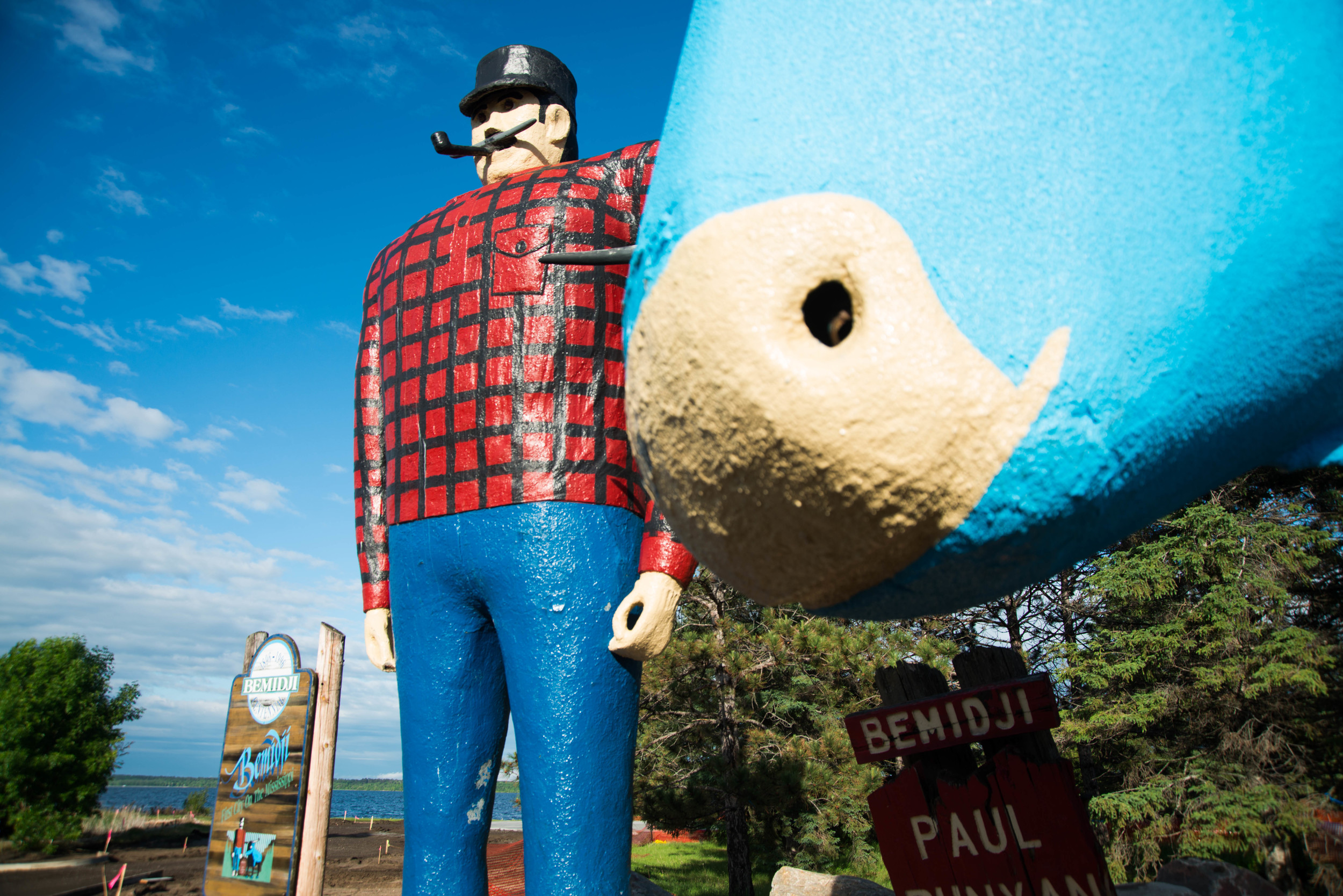 Bemidji, Minnesota- Home to a beautiful lake portion of the Mississippi as well as some very large, very old statues of Paul Bunyan and Babe the Blue Ox. Approximately 30 minutes before this photo was made it was a hilariously stormy day. Classic Mississippi River.