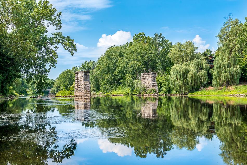 An old abandoned bridge near Dimondale, Michigan.