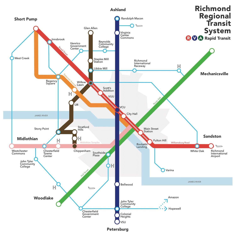 Map highlighting regional vision