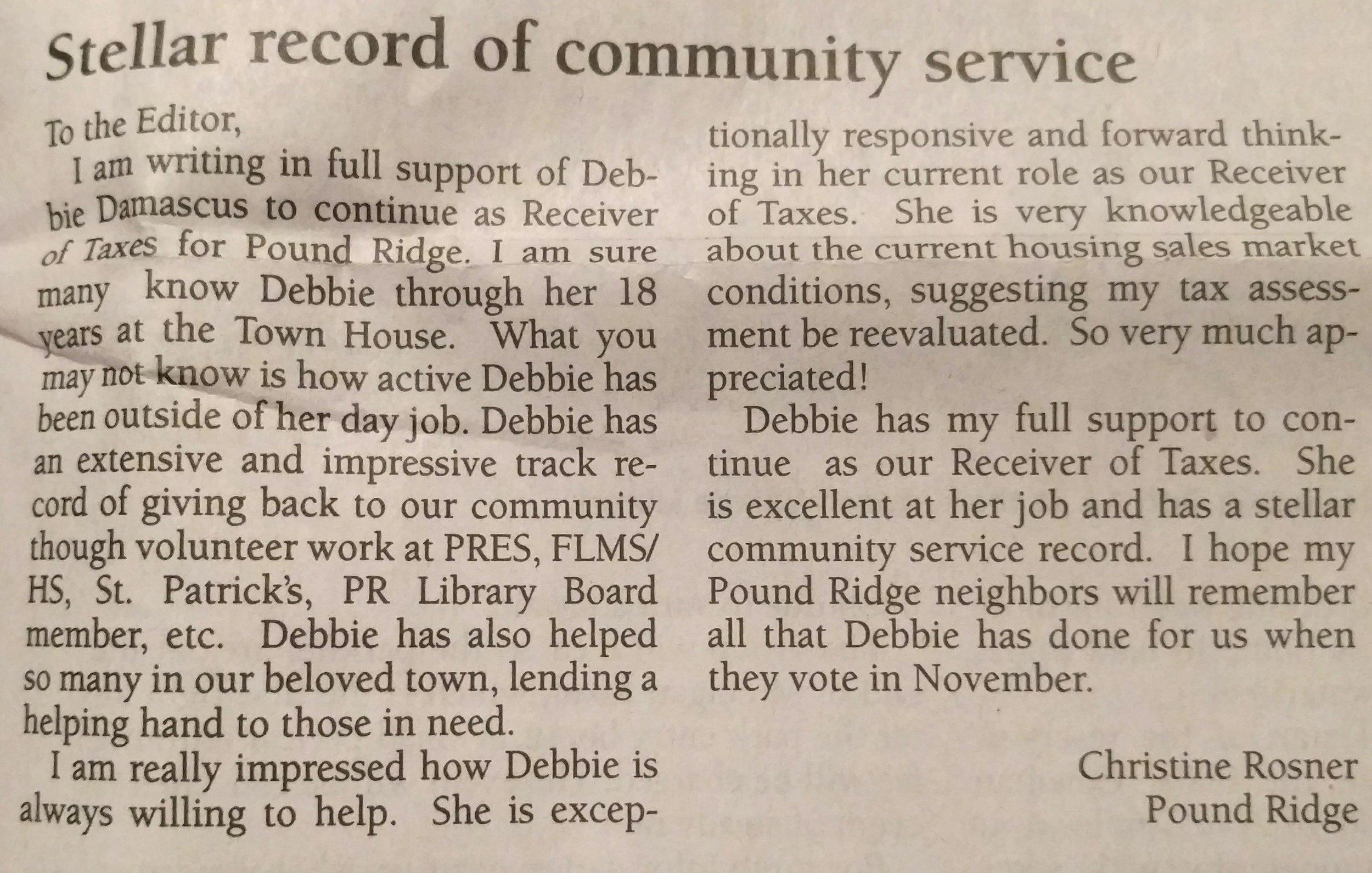 Debbie Damascus endorsement -- Christine Rosner.jpg