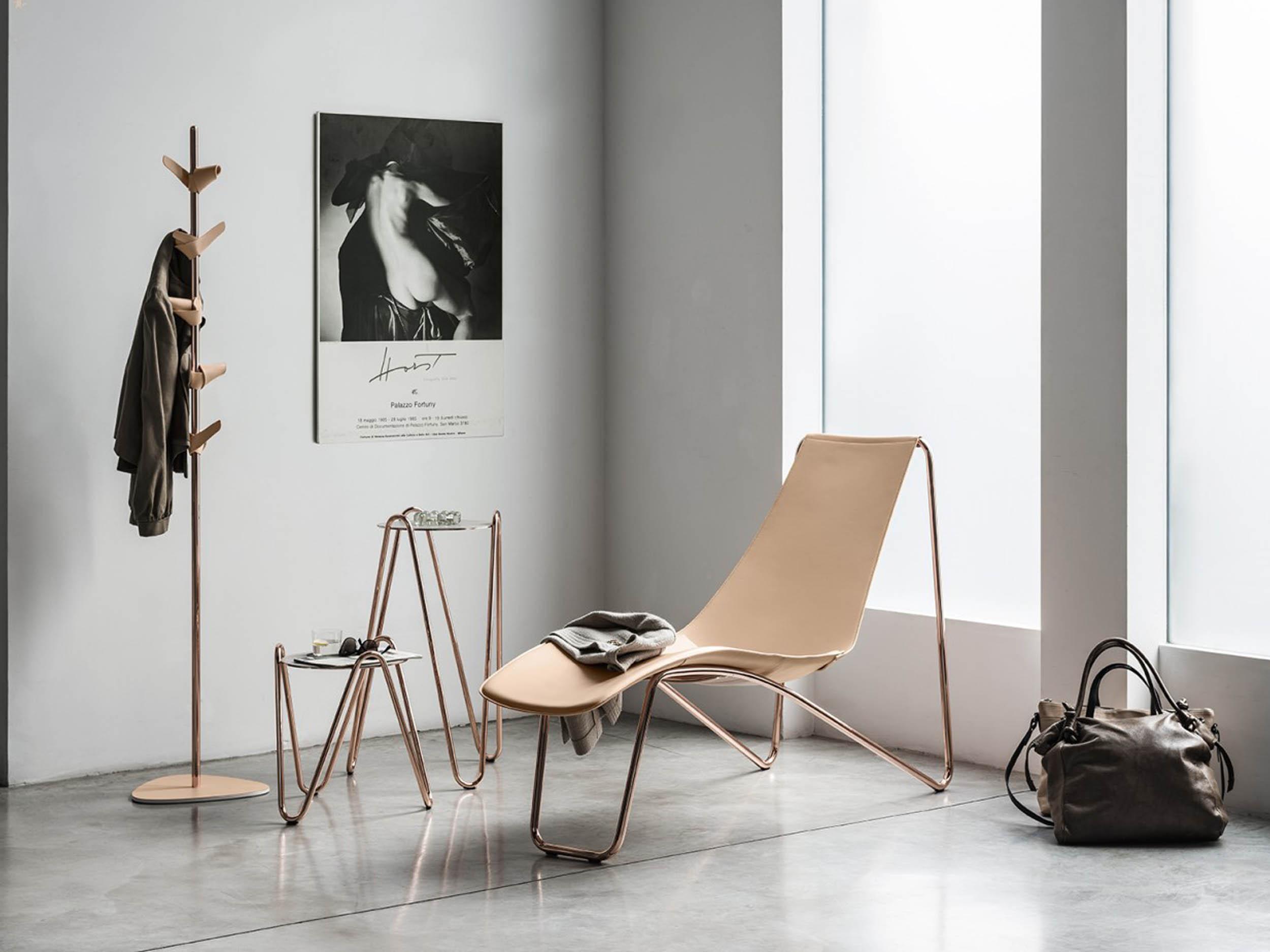 Apelle Coat Hanger + Apelle Chic Side Table + Apelle Lounge