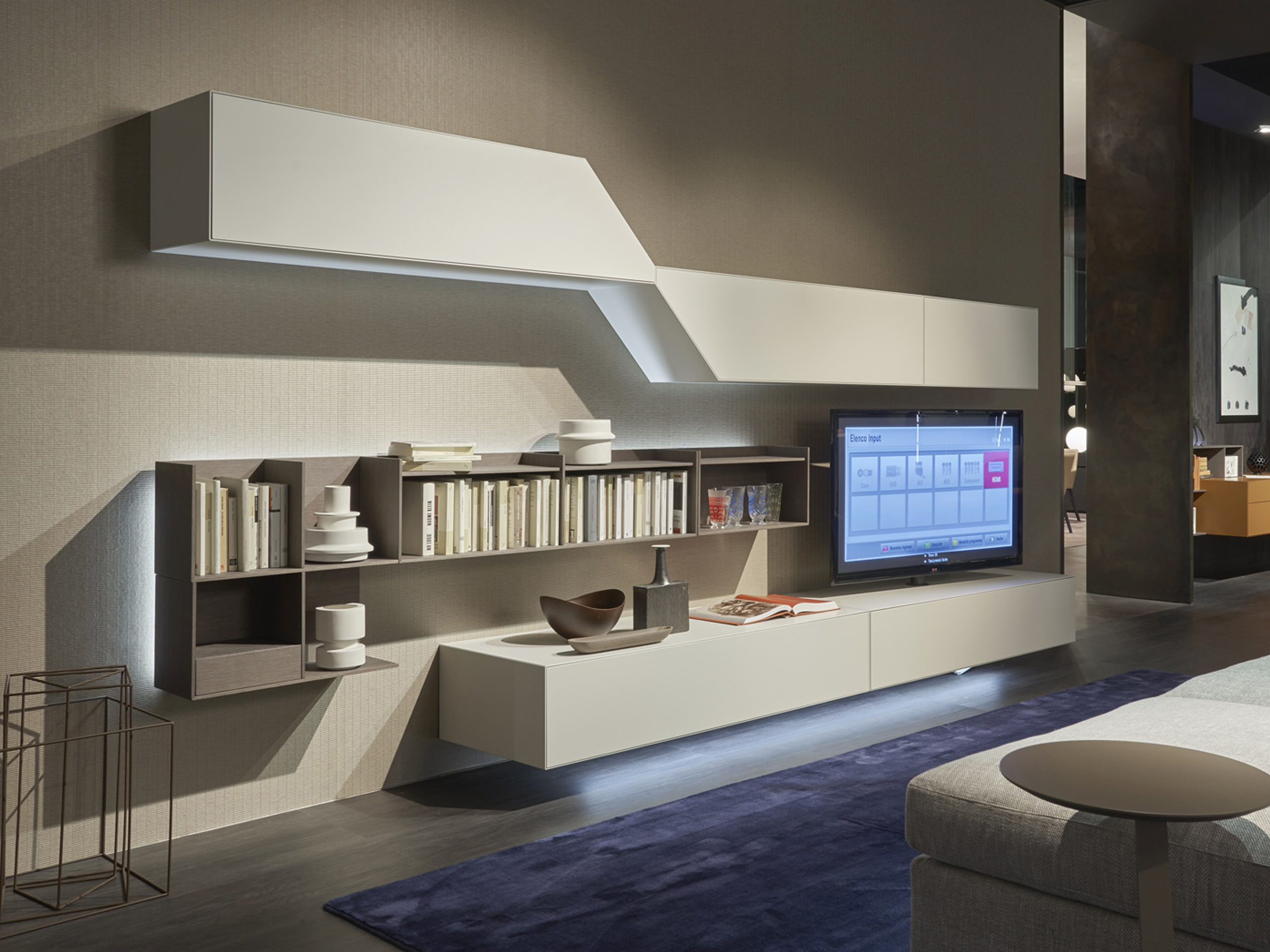 Convenient Technology - The furniture systems build by Sangiacomo simplistic but impressive ideas and solutions that impact living and sleeping areas with a wide choice of materials, sizes, and customizable accessories.